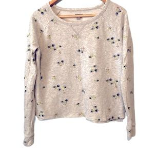 3/$20 AERIE floral CROPPED SWEATSHIRT XS oversized